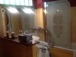 suite rosemonde, le prieure de mouquet Créon-Sadirac, salle d'eau, fr