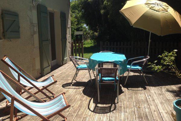 gite les hortensias, le prieure de mouquet Créon-Sadirac, terrasse3, fr